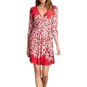 NWOT Max & CEO Red Full Wrap Jersey Dress